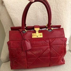 Marc Jacobs Candy Apple Red Quilted Satchel